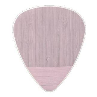 Lavender Bamboo Border Wood Grain Look Polycarbonate Guitar Pick