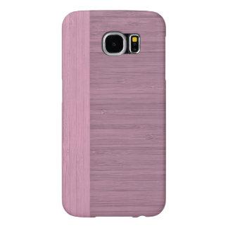 Lavender Bamboo Border Wood Grain Look Samsung Galaxy S6 Case