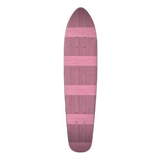 Lavender Bamboo Border Wood Grain Look Skateboard Deck