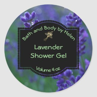 Lavender Bath and Cosmetics Label