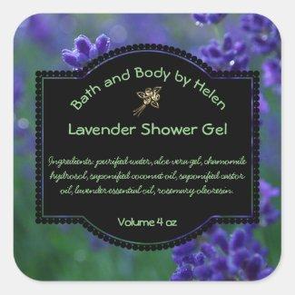 Lavender Bath and Cosmetics Label