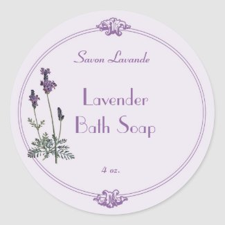 Lavender Bath Soap Label