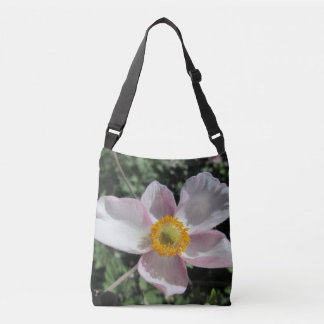Lavender Beach Plum Rose Flower Crossbody Bag