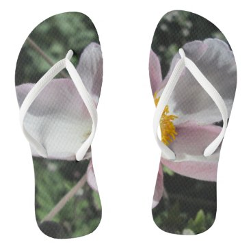 Beach Themed Lavender Beach Plum Rose Flower Flip Flops