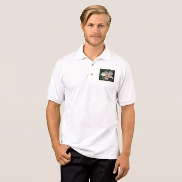 Beach Themed Lavender Beach Plum Rose Flower Polo Shirt