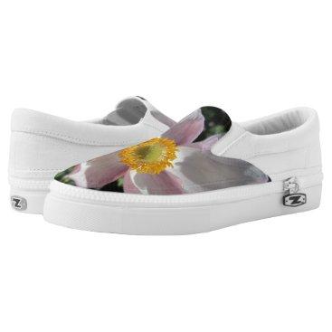 Beach Themed Lavender Beach Plum Rose Flower Slip-On Sneakers