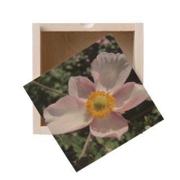 Beach Themed Lavender Beach Plum Rose Flower Wooden Keepsake Box