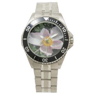 Lavender Beach Plum Rose Flower Wristwatch