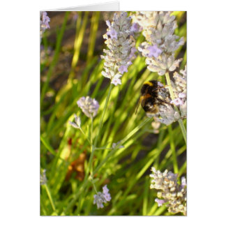 'Lavender Bee' Notecard Stationery Note Card