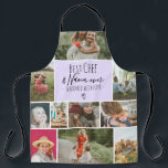 "Lavender Best chef and grandma photo collage grid Apron<br><div class=""desc"">Modern Best chef and Nana ever,  seasoned with love with 11 photo collage grid,  the pastel lavender purple color and heart are fully editable. Perfect gift for grandma or anyone who loves cooking.</div>"