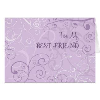 Lavender Best Friend Thank You Bridesmaid Card