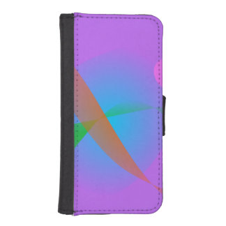 Lavender Bird Wallet Phone Case For iPhone SE/5/5s