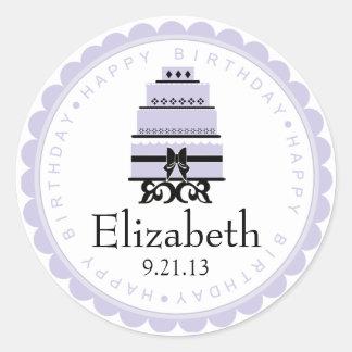 Lavender Birthday Cake Sticker
