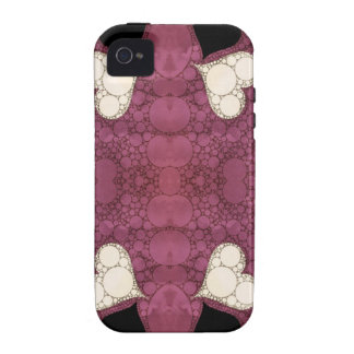 Lavender Black Heart Abstract Case-Mate iPhone 4 Cases