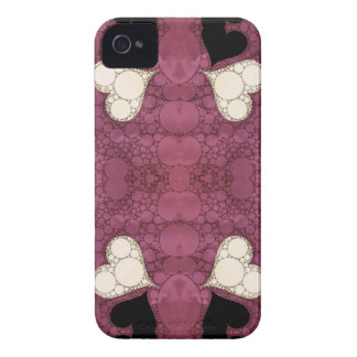 Lavender Black Heart Abstract iPhone 4 Case-Mate Cases