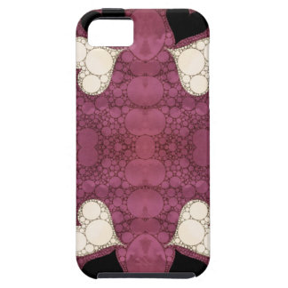 Lavender Black Heart Abstract iPhone 5 Case