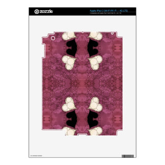 Lavender Black Heart Abstract iPad 3 Decal