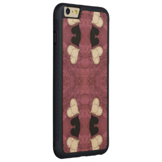 Lavender Black Heart Abstract Carved® Maple iPhone 6 Plus Bumper