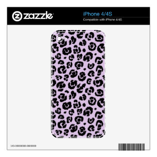 Lavender Black Leopard Print iPhone 4 Decal