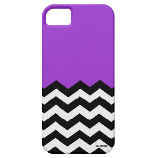 Lavender, Black & White Chevron Pattern Phone Case iPhone 5 Case