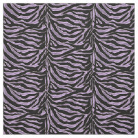 Lavender Black Zebra Animal Print Fabric