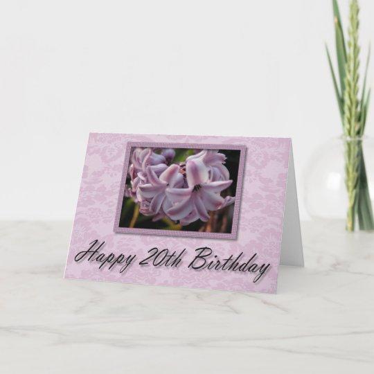 Lavender Bloom Happy 20th Birthday Card