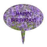 Lavender Blooms Birthday Cake Toppers