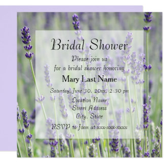 Lavender Blooms Floral Bridal Shower Invite