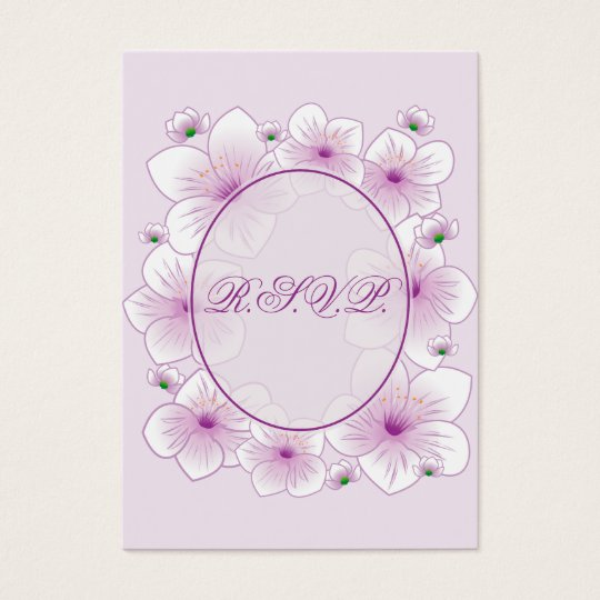 Lavender Blossom Flowers Romantic RSVP Minicard Business Card