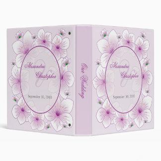Lavender Blossom Romantic Wedding Planner / Photo 3 Ring Binder