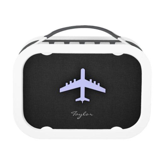 Lavender Blue Airplane Lunch Box