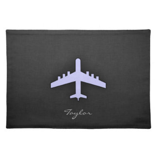 Lavender Blue Airplane Placemat