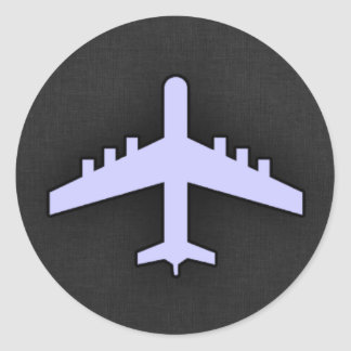 Lavender Blue Airplane Sticker