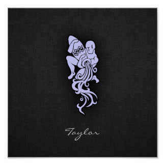 Lavender Blue Aquarius Poster
