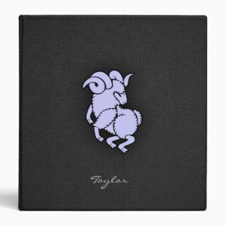 Lavender Blue Aries Ram Vinyl Binders