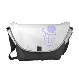 Lavender Blue Basketball Messenger Bag