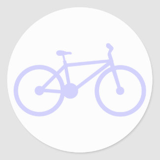 Lavender Blue Bicycle Classic Round Sticker