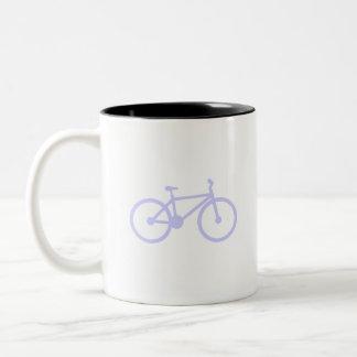 Lavender Blue Bicycle Two-Tone Coffee Mug