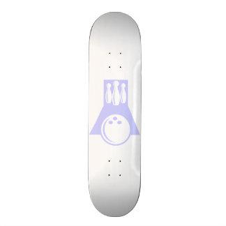 Lavender Blue Bowling Custom Skateboard