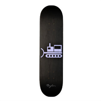 Lavender Blue Bulldozer Skateboard
