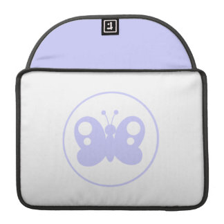 Lavender Blue Butterfly Sleeve For MacBooks