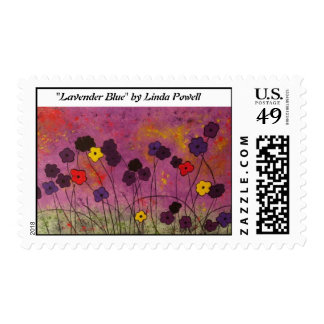 """Lavender Blue"" by Linda Powell~Original Postage"