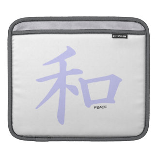Lavender Blue Chinese Peace Sign Sleeve For iPads