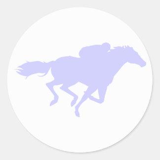 Lavender Blue Classic Round Sticker