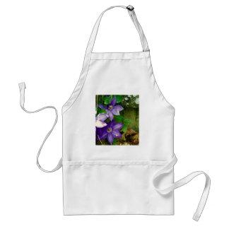 Lavender-Blue Clematis Fence Adult Apron