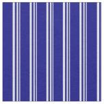 [ Thumbnail: Lavender & Blue Colored Stripes Pattern Fabric ]