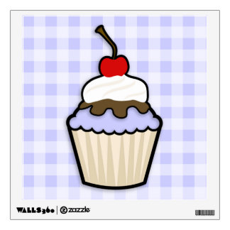 Lavender Blue Cupcake Wall Decal