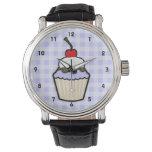Lavender Blue Cupcake Wrist Watch