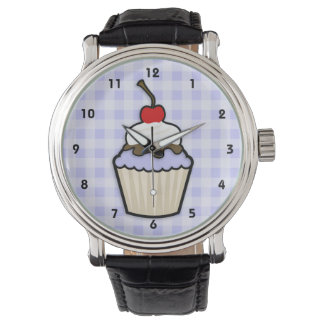 Lavender Blue Cupcake Wristwatch