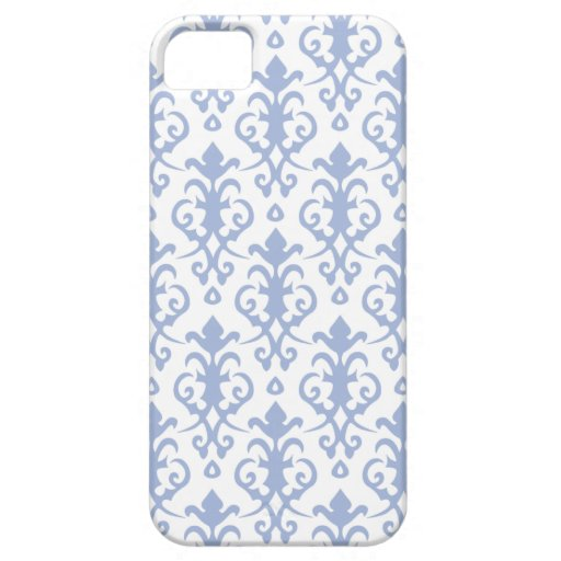 Lavender Blue Damask iPhone 5/5S Case